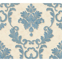 Architects Paper klassische Mustertapete Luxury wallpaper Tapete blau creme metallic 324222 10,05 m x 0,53 m