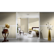 Architects Paper klassische Mustertapete Luxury wallpaper Tapete creme metallic 10,05 m x 0,53 m