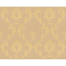 Architects Paper klassische Mustertapete Metallic Silk Textiltapete beige metallic 306584 10,05 m x 0,53 m