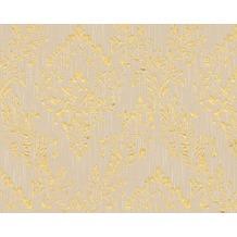 Architects Paper klassische Mustertapete Metallic Silk Textiltapete beige metallic 306592 10,05 m x 0,53 m