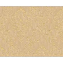 Architects Paper klassische Mustertapete Metallic Silk Textiltapete beige metallic 306594 10,05 m x 0,53 m
