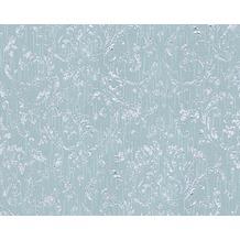 Architects Paper klassische Mustertapete Metallic Silk Textiltapete blau grün 306605 10,05 m x 0,53 m