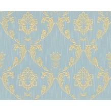 Architects Paper klassische Mustertapete Metallic Silk Textiltapete blau grün metallic 306586 10,05 m x 0,53 m