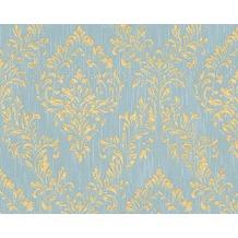 Architects Paper klassische Mustertapete Metallic Silk Textiltapete blau grün metallic 306595 10,05 m x 0,53 m