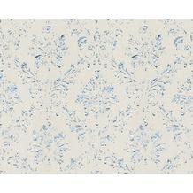 Architects Paper klassische Mustertapete Metallic Silk Textiltapete grau metallic 306622 10,05 m x 0,53 m