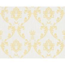 Architects Paper klassische Mustertapete Metallic Silk Textiltapete weiß metallic 306581 10,05 m x 0,53 m