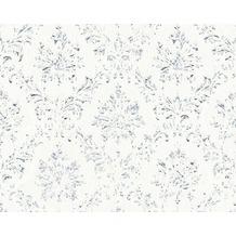 Architects Paper klassische Mustertapete Metallic Silk Textiltapete weiß metallic 306621 10,05 m x 0,53 m