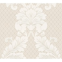 Architects Paper klassische Mustertapete mit Echtflock Luxury wallpaper Vliestapete creme metallic 305441