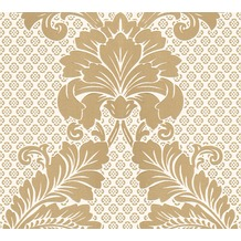 Architects Paper klassische Mustertapete mit Echtflock Luxury wallpaper Vliestapete creme metallic 305442