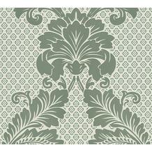 Architects Paper klassische Mustertapete mit Echtflock Luxury wallpaper Vliestapete grün blau 305443 10,05 m x 0,52 m