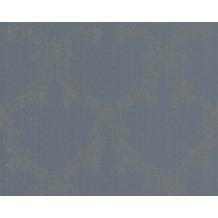 Architects Paper klassische Mustertapete mit Glitter Haute Couture 3, blau, grau, metallic 290465 10,05 m x 0,53 m