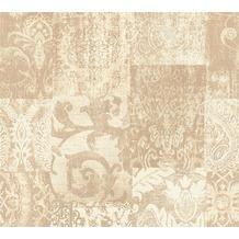Architects Paper Mustertapete im Ethno-Look Luxury Classics Vliestapete beige creme metallic 343745 10,05 m x 0,53 m