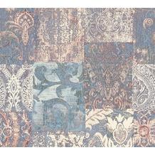 Architects Paper Mustertapete im Ethno-Look Luxury Classics Vliestapete blau creme lila 343743 10,05 m x 0,53 m