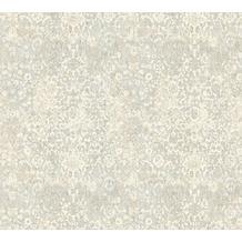 Architects Paper Mustertapete im Vintage Look Luxury Classics Vliestapete blau creme grau 343753 10,05 m x 0,53 m