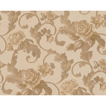 Architects Paper Mustertapete Nobile, Tapete, beige, metallic 959835 10,05 m x 0,70 m