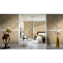 Architects Paper Mustertapete Nobile, Tapete, beige, metallic 10,05 m x 0,70 m