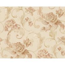 Architects Paper Mustertapete Nobile, Tapete, creme, metallic, rosa 959833 10,05 m x 0,70 m