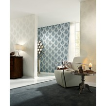 Architects Paper Mustertapete Nobile, Tapete, creme, metallic, weiß 10,05 m x 0,70 m