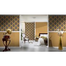 Architects Paper Mustertapete Nobile, Tapete, grün, metallic 10,05 m x 0,70 m