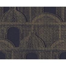 Architects Paper Mustertapete Piazza, Vliestapete, blau, metallic 961104