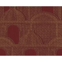 Architects Paper Mustertapete Piazza, Vliestapete, rot, metallic 961101
