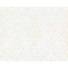 Architects Paper Mustertapete Tessuto 2, Textiltapete, creme, weiß 961954