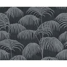 Architects Paper Mustertapete Tessuto 2, Textiltapete, grau, schwarz 961984