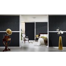 Architects Paper Mustertapete Tessuto 2, Textiltapete, grau, schwarz
