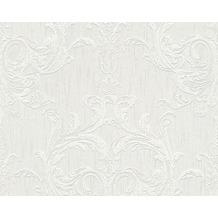 Architects Paper Mustertapete Tessuto 2, Textiltapete, grau, weiß 961961