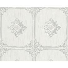 Architects Paper Mustertapete Tessuto 2, Textiltapete, grau, weiß 961991