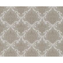 Architects Paper Mustertapete Tessuto, Textiltapete, graubeige, beigegrau, signalweiß 956296 10,05 m x 0,53 m