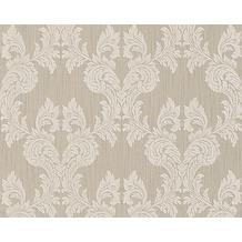 Architects Paper Mustertapete Tessuto, Textiltapete, graubeige, grauweiß 956301 10,05 m x 0,53 m