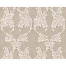 Architects Paper Mustertapete Tessuto, Textiltapete, graubeige, grauweiß 956281 10,05 m x 0,53 m