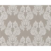 Architects Paper Mustertapete Tessuto, Textiltapete, graubeige, seidengrau 956306 10,05 m x 0,53 m