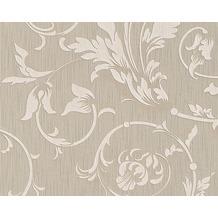 Architects Paper Mustertapete Tessuto, Textiltapete, graubeige, signalweiß 956331 10,05 m x 0,53 m