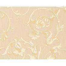 Architects Paper Mustertapete Tessuto, Textiltapete, hellelfenbein, sandgelb 956332