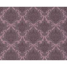 Architects Paper Mustertapete Tessuto, Textiltapete, pastellviolett, schwarzrot, 956295 10,05 m x 0,53 m
