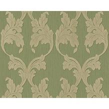 Architects Paper Mustertapete Tessuto, Textiltapete, resedagrün, gelbgrau 956284 10,05 m x 0,53 m