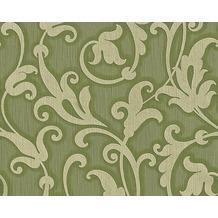Architects Paper Mustertapete Tessuto, Textiltapete, resedagrün, kieselgrau 954904 10,05 m x 0,53 m
