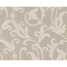 Architects Paper Mustertapete Tessuto, Textiltapete, signalweiß, graubeige 954901 10,05 m x 0,53 m
