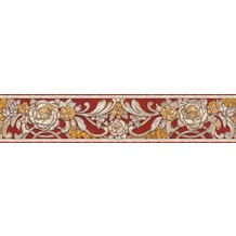 Architects Paper neobarocke Bordüre Kind of White by Wolfgang Joop grau metallic rot 340783 5,00 m x 0,13 m