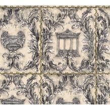 Architects Paper neobarocke Mustertapete Kind of White by Wolfgang Joop grau metallic schwarz 340862 10,05 m x 0,53 m