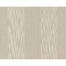 Architects Paper Streifentapete Tessuto, Textiltapete, graubeige, perlweiß 956606 10,05 m x 0,53 m
