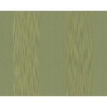 Architects Paper Streifentapete Tessuto, Textiltapete, schilfgrün, gelbgrün 956604 10,05 m x 0,53 m