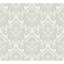 Architects Paper Textiltapete Di Seta Tapete mit Ornamenten barock grau hellgrau metallic 366686 10,05 m x 0,70 m