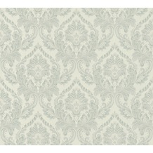 Architects Paper Textiltapete Di Seta Tapete mit Ornamenten barock grün hellgrün metallic 366684 10,05 m x 0,70 m