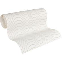 Architects Paper Vliestapete Meistervlies Tapete in 3D Optik überstreichbar weiß 934801 10,05 m x 0,53 m