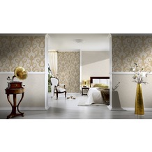 Architects Paper Unitapete Nobile, Tapete, creme, metallic, weiß 10,05 m x 0,70 m