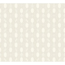 Architects Paper Vliestapete Absolutely Chic Tapete geometrisch grafisch metallic creme grau 369733 10,05 m x 0,53 m