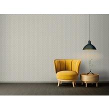 Architects Paper Vliestapete Absolutely Chic Tapete geometrisch grafisch metallic creme grau 10,05 m x 0,53 m